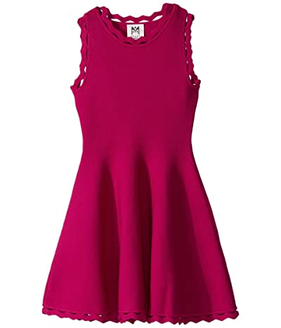 Milly Minis Zigzag Trim Flare Dress (Big Kids) (Magenta) Girl