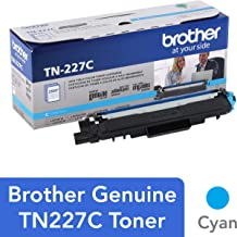 $93 » Brother Genuine TN227C, High Yield Toner Cartridge,  Replacement Cyan Toner, Page Yield Up to 2,300 Pages, TN227, Amazon Dash Replenishment Cartridge