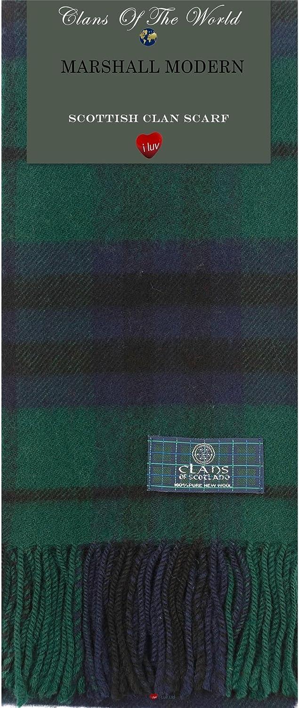 Malcolm Modern Tartan Clan Scarf 100% Soft Lambswool