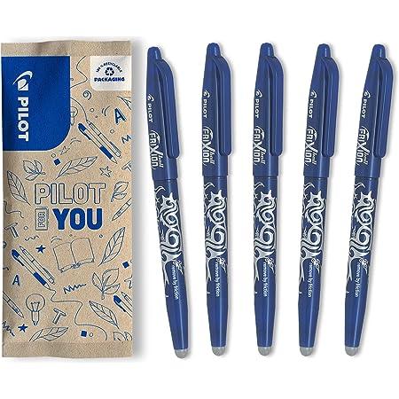 PILOT FriXion Ball, radierbarer Tintenroller, 5er Set (Blau)