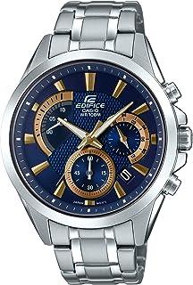 Casio Men's Edifice Silver Quartz Watch with...