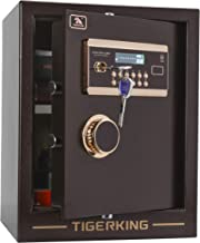 TIGERKING Digital Security Safe Box Solid Alloy Steel Construction Large Safe for Home Office Hotel 1. 34 Cubic Feet