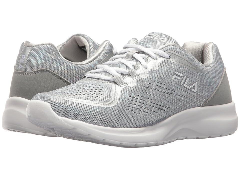 Fila Memory Octave 2 (Metallic Silver/High-Rise/White) Women