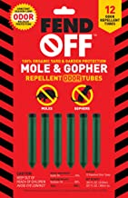 Fend Off Mole and Gopher Organic Odor Tubes, 12 pack