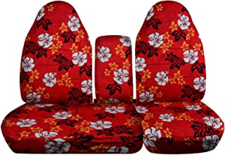 Totally Covers compatible with 1997-2000 Ford F-150 Hawaiian Truck Seat Covers (Front 40/60 Split Bench) with Opening Cent...