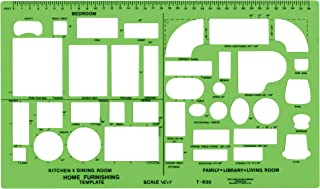 Westcott Plastic Designer Template, 1/4 Inches, Green
