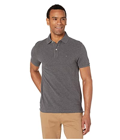 Tommy Hilfiger Ivy Polo Shirt Custom Fit (Medium Grey Heather) Men