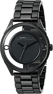 Marc by Marc Jacobs MBM3415 Round Stainless Steel Analog Watch for Women - Black