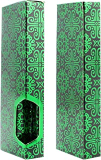 Black Green Foil Empty Retail Display Packaging Gift Boxes by Shatter Labels VB-062 (100)