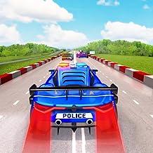 Corrida de carros de tráfego leve policial
