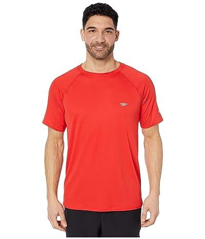 Speedo Easy Short Sleeve Swim Shirt (Speedo Red) Men