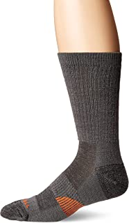 Merrell Men's 1 Pack Cushioned Lightweight Hiker Crew Socks