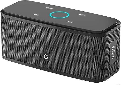 Bluetooth Speakers, DOSS SoundBox Touch Portable Wireless Bluetooth Speakers with 12W HD Sound and Bass, IPX5 Waterpr...