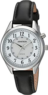 Armitron Women's Backlight Function Leather Strap Watch