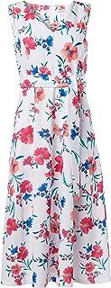 Calvin Klein Women's Plus Size Sleeveless V Neck Midi Dress with Self Sash Waist