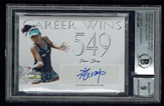 Shuai Zhang signed autograph 2017 Leaf Career Wins Tennis BAS Slab Auto Grade 9
