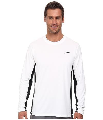 Speedo Longview Long Sleeve Swim Tee (White) Men