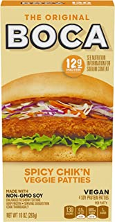 Boca Original Spicy Chik'n Non GMO Frozen Vegan Patties (4 Count)