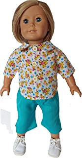 Doll Clothes Superstore Flower Garden Shirt with Pants for 18 Inch Dolls Like American Girl