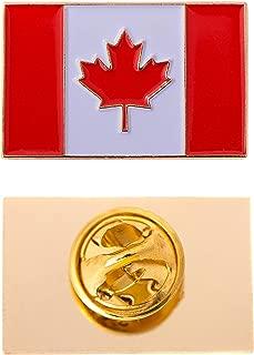 Canada Canadian Country Rectangle Flag Lapel Pin Enamel Made of Metal Souvenir Hat Men Women Patriotic (Rectangle Pin)