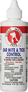 Remedy + Recovery Gold Medal Ear Mite and Tick Control for Pets, 4-Ounce