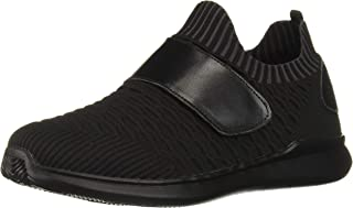 Propet Women's Travelbound Strap Sneaker, Black, 8 Wide