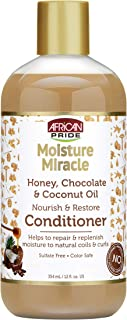 African Pride Moisture Miracle Honey, Chocolate & Coconut Oil Conditioner (3 Pack) - Helps Repair & Replenish Moisture to ...