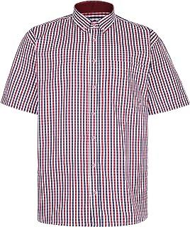 Kam Premium Gingham Check Shirt P640 Red 2XL