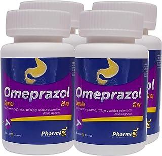 Rx Omeprazol, 20mg 4 frascos con 60 cápsulas cada frasco.