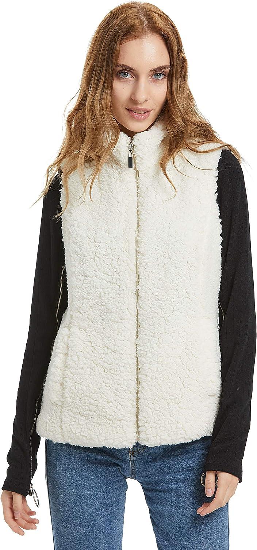 Women Fashion Winter/Spring Fleece Vest Stand Collar