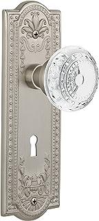 "(satinnickel, 2-3/8"") - Nostalgic Warehouse Meadows Privacy Door Knob with Meadows Plate"