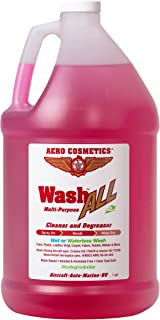 Aero Cosmetics Wash ALL Degreaser, Wet or Waterless Cleaner Degreaser, Wheel, Tire, Engine Cleaner, Black Streak & Aircraft Exhaust Soot Remover, The Best for your Car, RV, Boat & Motorcycle