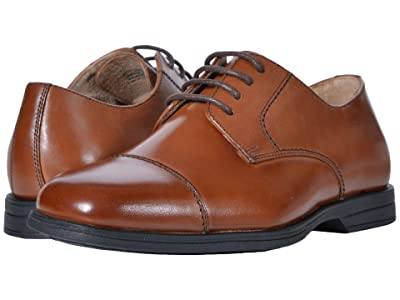Florsheim Kids Reveal Cap Toe Ox, Jr. (Toddler/Little Kid/Big Kid) (Cognac) Boys Shoes
