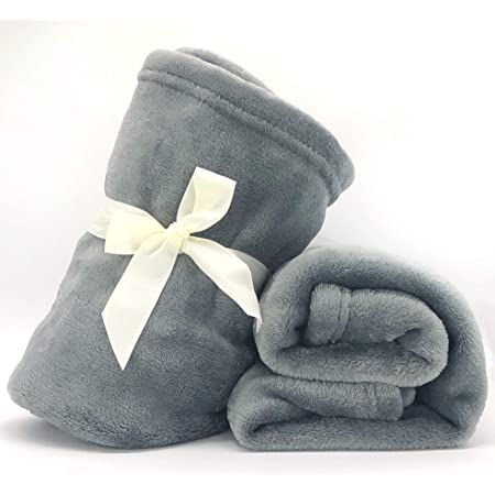 New Baby Boy Girls Reversible Fleece /& Sherpa Blanket Car or Gift Ideal Pram