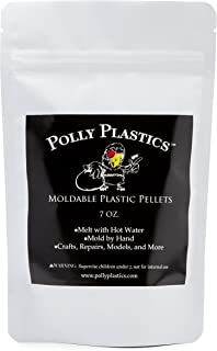 Moldable Plastic Pellets by Polly Plastics | Thermoplastic Beads | Cosplay, Projects, Repairs (7 oz)
