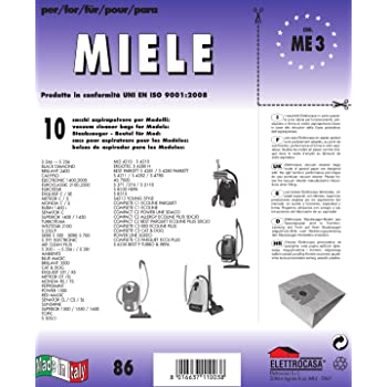 10 SACCHI MIELE S 371//374   S 6230  HYBRID S 4812 ECOLINE SILENCE S 6390  S 6240