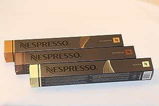 30 Cápsulas Nespresso Variaciones paquete surtido de 10 x Caramelito, 10 x Ciocattino, 10 x Vanilio