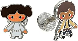 Princess Leia Han Solo Cufflinks Pair