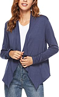ChainJoy Womens Casual Irregular Open Front Breathable Cardigan Jacket Work Office Blazer