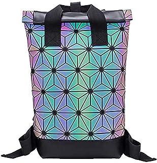 Rolltop - Mochila holográfica con facetas reflectantes, unisex, piel sintética, para niña, escuela, deporte, senderismo, Fullcolor (Multicolor) - ERRT-2020