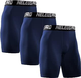 Neleus Men's 3 Pack Performance Compression Shorts
