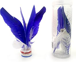 VIAHART Kikbo Kick Shuttlecock Cylinder (Chapteh, Da CAU, Jian Zi)   Great Change-up from Hacky Sack and Footbag (Blue) Includes One Complete Kikbo Shuttlecock and Four Replacement Feathers