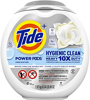 Tide Pods Hygienic Clean Heavy Duty 10x Free Power PODS Laundry Detergent, 41 count, Unscented, For Visible and Invisible ...