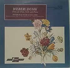 WEBER / DUSIK: Trios for Flute, Cello and Piano<>CARL MARIA von WEBER: Trio in G Mi., Op. 63 ~ JAN LADISLAV DUSIK: Trio in F Ma., Op. 65 ~ Turnabout Vox TV-S 34329 - 44 min.