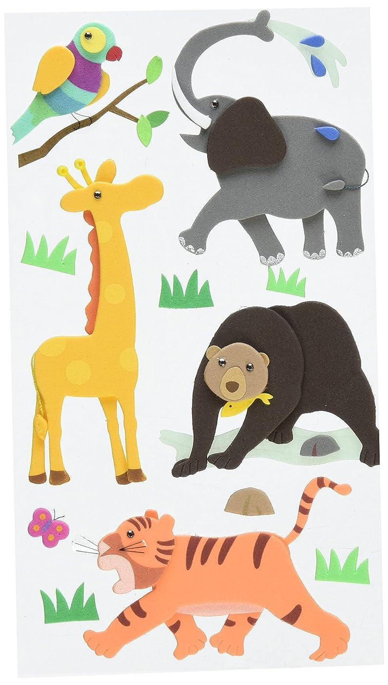 Jolee's Layered Foam Stickers, Zoo Animals