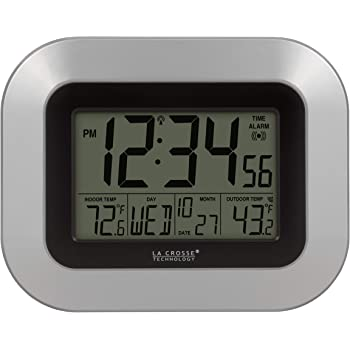 La Crosse Technology WS-8119U-IT-W Atomic Digital Clock with Temperature