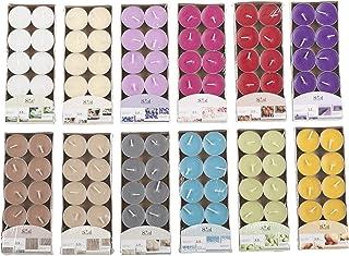Invero® Lot de 120 Bougies chauffe-plats parfumées de plusieurs couleurs - idéales pour les salles de séjour, couloirs, cu...