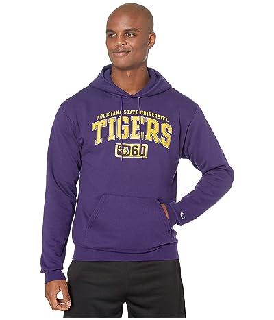 Champion College LSU Tigers Eco(r) Powerblend(r) Hoodie (Champion Purple 2) Men