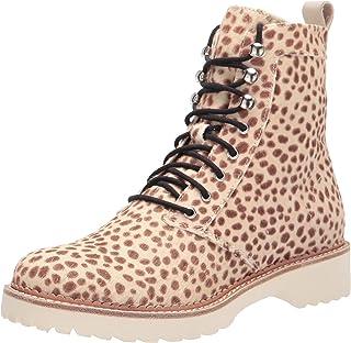 Dolce Vita Women's Avena Combat Boot, Leopard Calf Hair, 8.5
