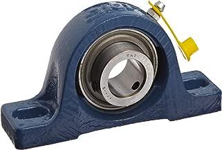 SKF SY 1.1/2 RM Pillow Block Ball Bearing, 2 Bolts, Normal-Duty, Setscrew Locking Collar, Contact Seals, Cast Iron, Inch, 1-1/2